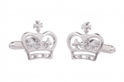 Silver Coloured Royal Crown Cufflinks